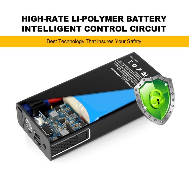 Ap 6 11100 Mah Portable Car Jump Starter Booster Charger Battery