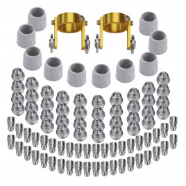 AP80-92, 80-120 Amp 92-Pcs Non-touch Pilot Arc Plasma Cutter Consumable Set, Use for CHF-50 CHF-60 and APC-70HF
