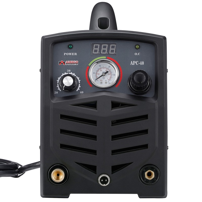 "APC-40, 40 Amp Plasma Cutter, 115/230V Dual Voltage Compact Metal Cutting Machine, 1/2"" Clean Cut."