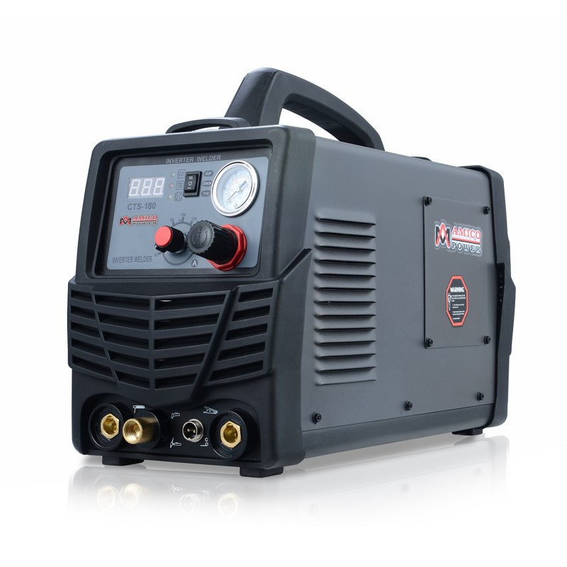 CTS-180, 40A Plasma Cutter, 180A TIG-Torch, 160A Stick Arc Welder, 115/230V Dual Voltage 3-in-1 Combo Welding