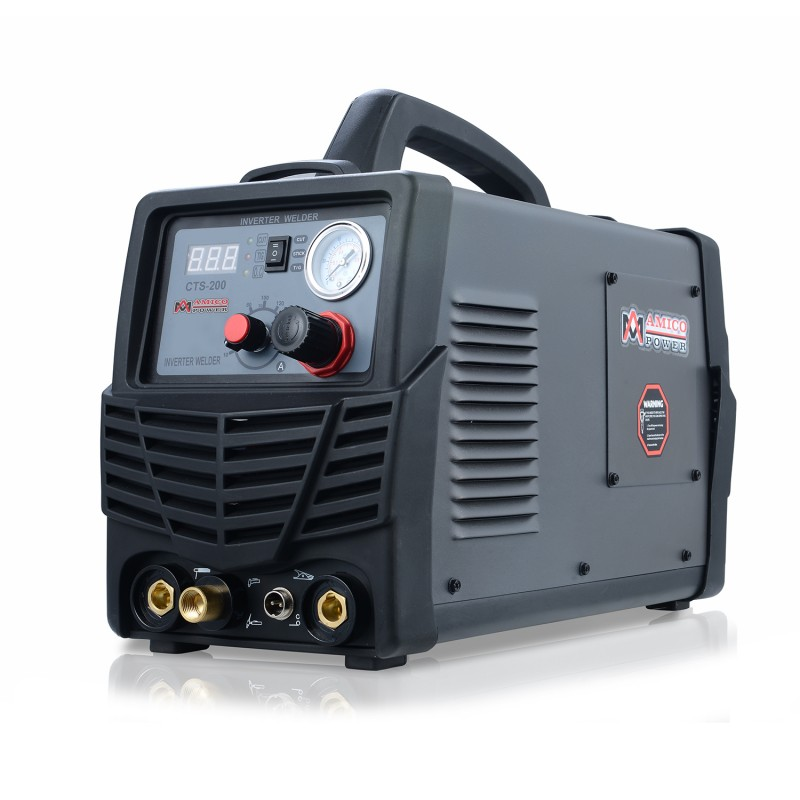 CTS-200, 50A Plasma Cutter, 200A TIG-Torch, 200A Stick Arc Welder,  115/230V Dual Voltage 3-in-1 Combo Welding