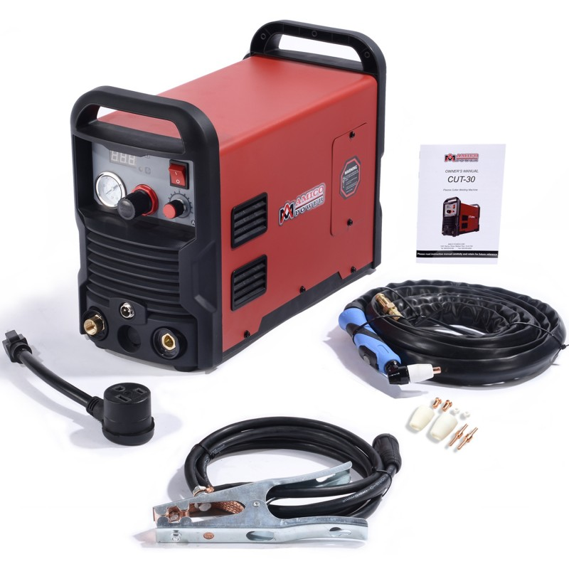 CUT-30, 30 Amp Plasma Cutter DC Inverter 110/230V Dual Voltage Cutting Machine