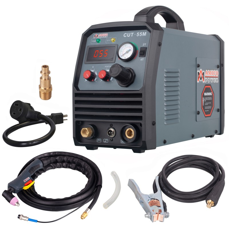 CUT-45M, 45 Amp Arc Plasma Cutter, 2/5 inch Clean Cut, 95~260V Wide Voltage, DC Inverter Pro. Cutting Machine.