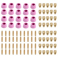 CUT50-G100, 100-Pcs Plasma Cutter Consumables, Nozzles, Electrodes and Cups for CUT-50 CUT-60 APC-50 APC-60 & CTS-200