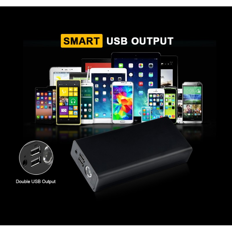 DR-6 12000 mAh Portable Car Jump Starter Booster Charger Battery Power Bank
