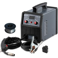 MIG-130, 130 Amp MIG/Flux Core Wire Gasless Welder, 115/230V Dual Voltage, IGBT Inverter Welding Soldering Machine.