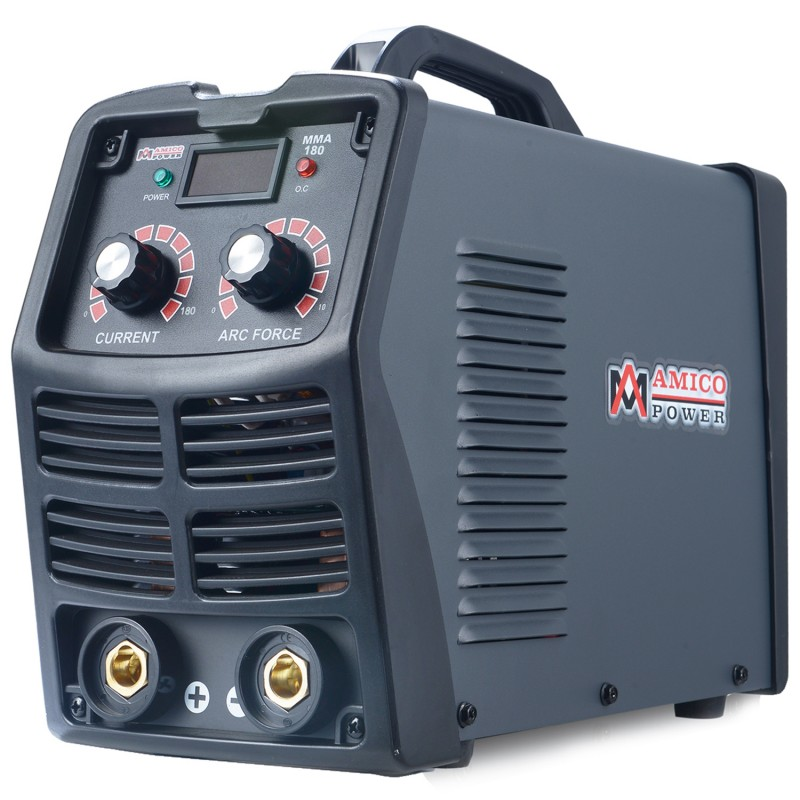 MMA-180, 180 Amp Stick ARC DC Inverter Welder, IGBT Digital Display LCD 120V & 240V Dual Voltage Welding Machine