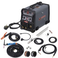 MTS-205, 205 Amp MIG/TIG/Stick Arc 3-in-1 Combo Welder, MIG Gun or Spool Gun can Weld Aluminum, 2T/4T Switch 115/230V Welding