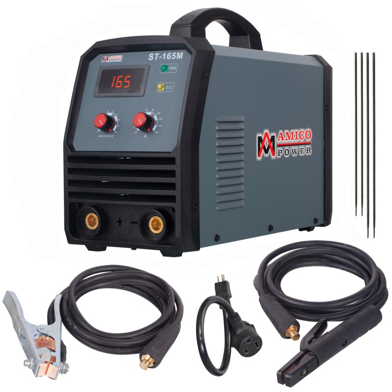 ST-165M, 165 Amp Stick ARC DC Inverter Welder, 95~260V Wide Voltage Welding, Professional Industrial Class Soldering Machine.