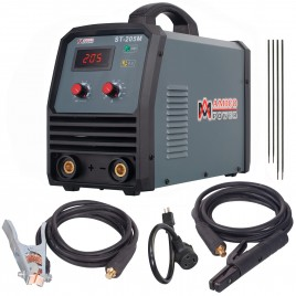 ST-205M, 205 Amp Stick ARC DC Inverter Welder, 95~260V Wide Voltage Welding, Professional Industrial Class Soldering Machine.