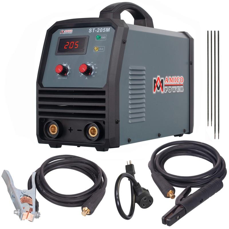 ST-205M, 205 Amp Stick ARC DC Inverter Welder, 95~260V Wide Voltage Welding, Professional Industrial Class Soldering Machine.