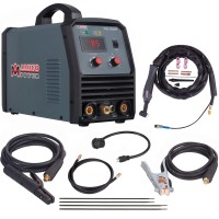 TIG-185HF, 180 Amp TIG Torch Stick Arc DC Inverter Welder, High Frequency & High Voltage 100% Start, 95~260V Wide Voltage Welding Machine.