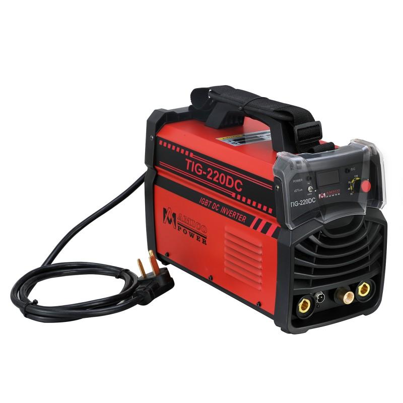 TIG-220DC 220 Amp TIG Stick Arc DC Inverter Welder 110/230V Dual Voltage Welding Soldering Machine