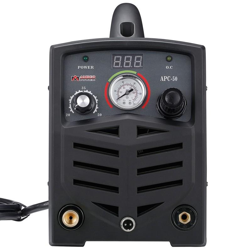 "APC-50, 50 Amp Plasma Cutter, 115/230V Dual Voltage Compact Metal Cutting Machine, 3/4"" Clean Cut."