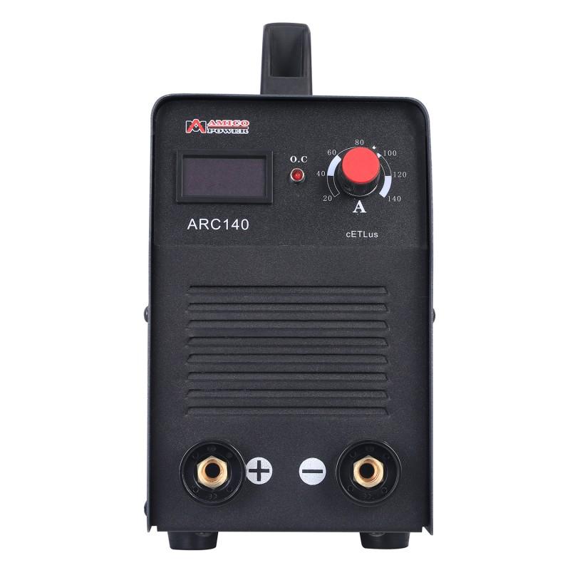 ARC-140, 140 Amp Stick Arc DC Welder Digital Display LCD Inverter Welding
