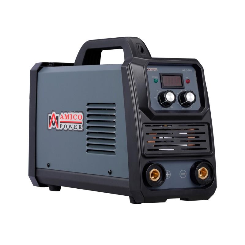 ARC-180, 180-Amp Stick Arc & Lift-TIG Combo Welder, 100-250V Wide Voltage, 80% Duty Cycle, Compatible with all Electrodes: E6010 E6011 E6013 E7014 E7018 etc.