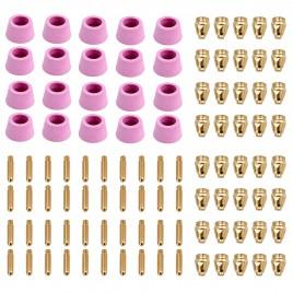 CUT50-G100, 100-Pcs Plasma Cutter Consumables, Nozzles, Electrodes and Cups for CUT-50 CUT-60 APC-50 APC-60 & CTS-200