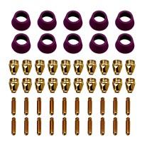 CUT50-G50, 50-Pcs Plasma Cutter Consumables, Nozzles, Electrodes and Cups for CUT-50 CUT-60 APC-50 APC-60 & CTS-200