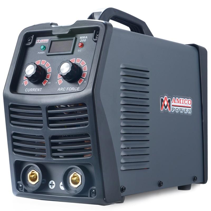 MMA-200, 200 Amp Stick ARC DC Inverter Welder, IGBT Digital Display LCD 120V & 240V Dual Voltage Welding Machine